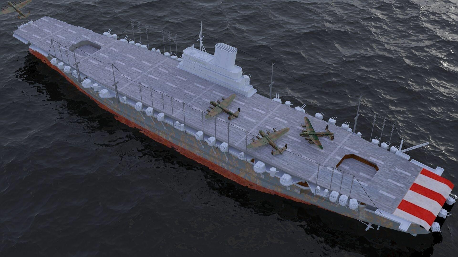 ArtStation - Japanese aircraft carrier Shinano, Alexander Tkalik