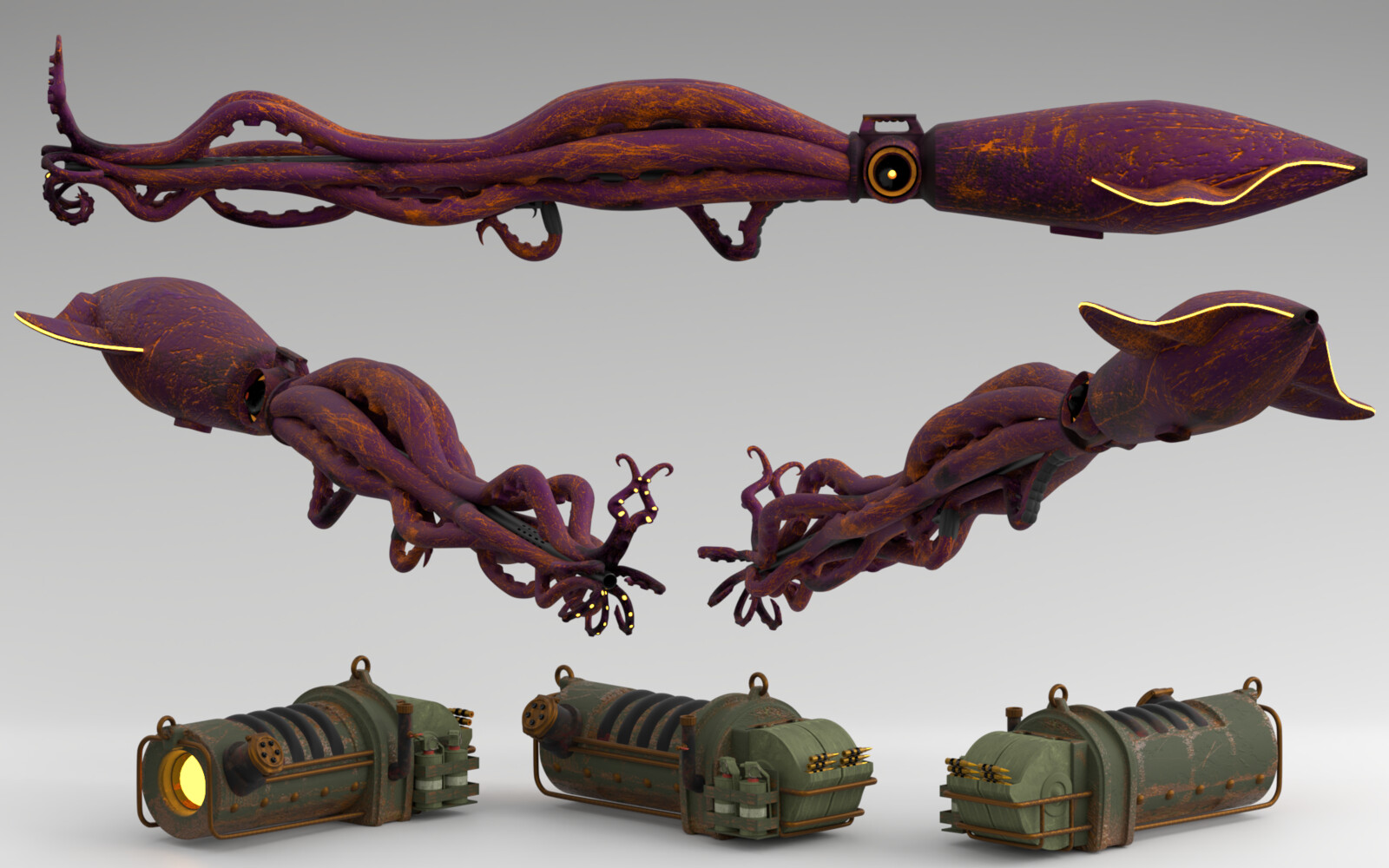 Adi Mal's Squid Rifle and ammo canister