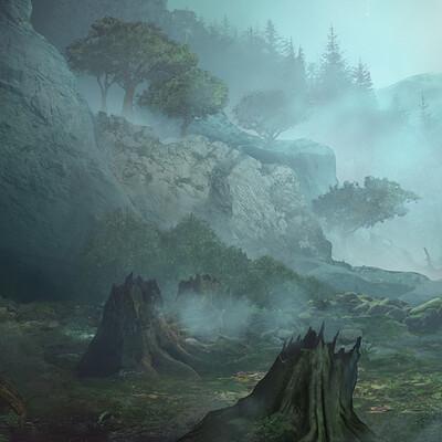 Wison hendrik concept foggy forest