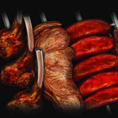Ellie kirkner absurdist churrascariafood meat1