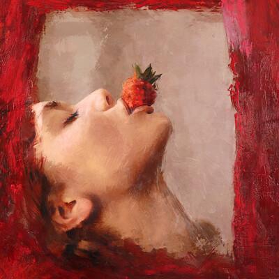 Solo art strawberry print