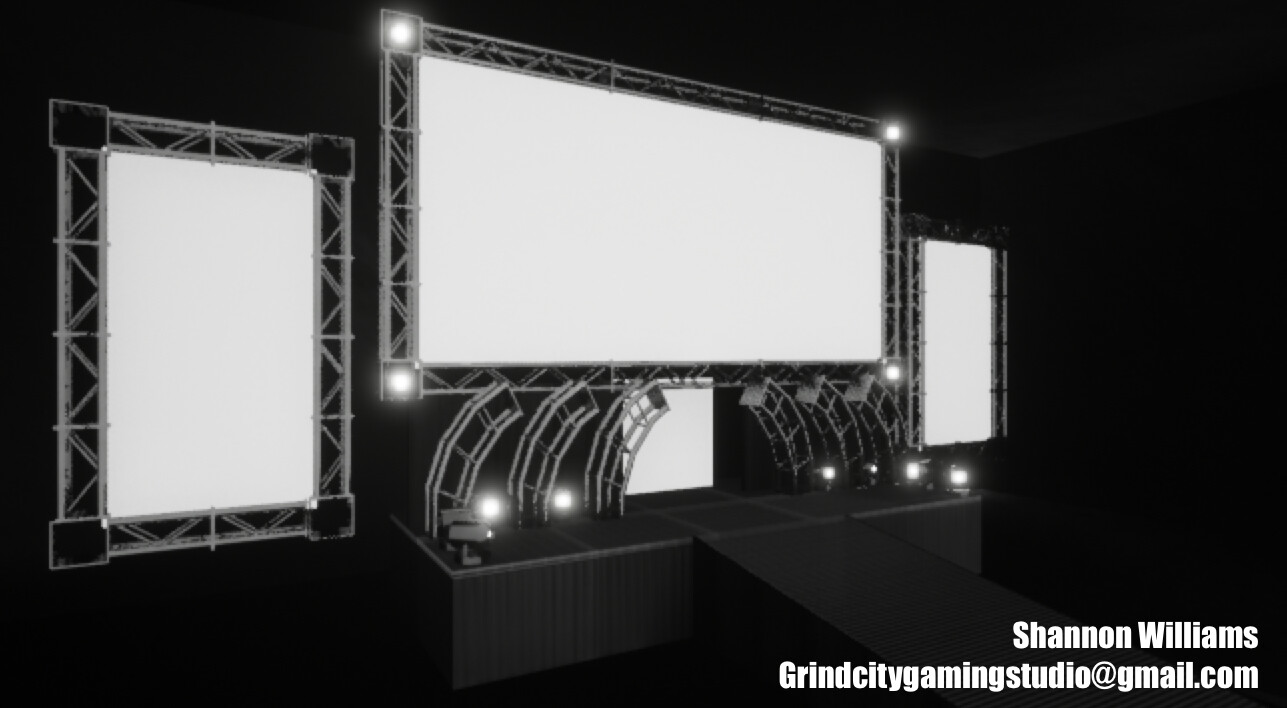 This is my finalized Raw Stage with materials added to all objects.