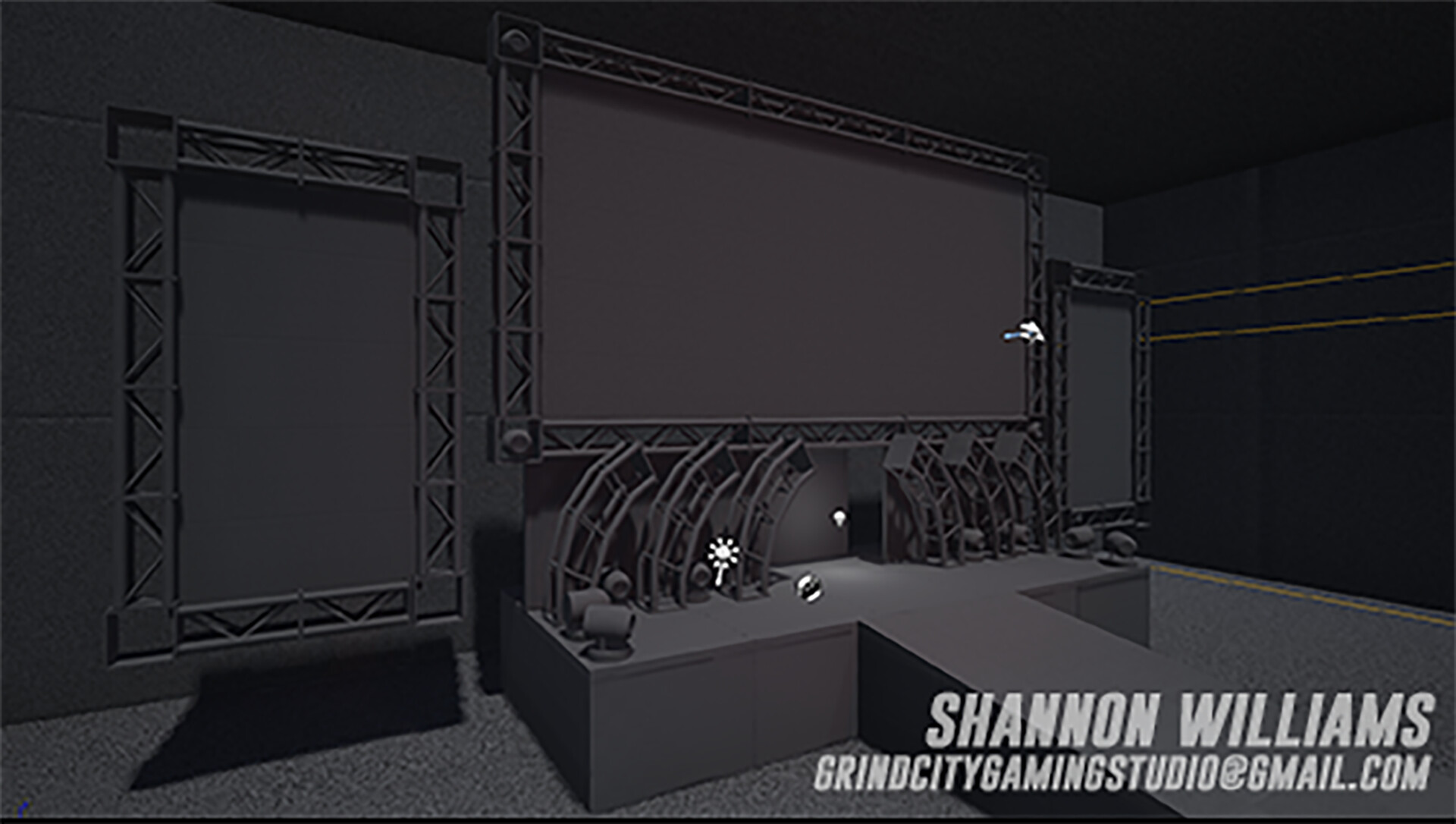 This was my original blockout for the WWF Raw stage.