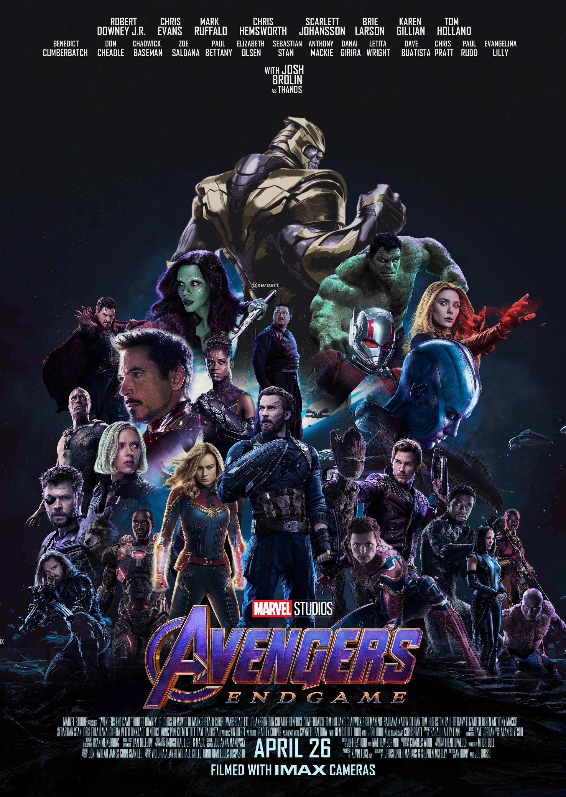 Artstation Avengers End Game Fan Poster Xero Art