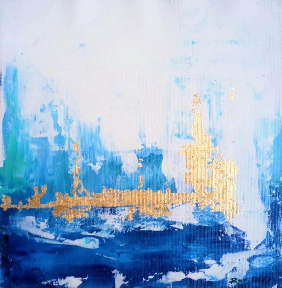 Artstation Skyline Painting Acrylic Abstract Art On Canvas