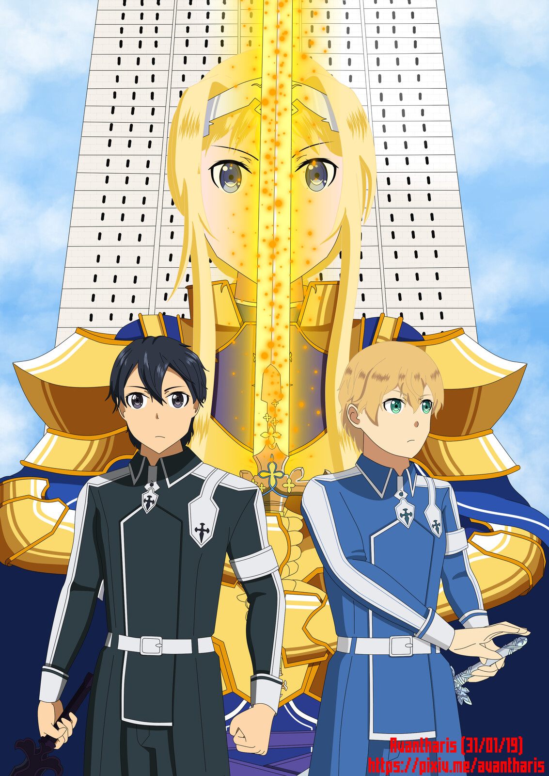 Alice, Eugeo and Kirito