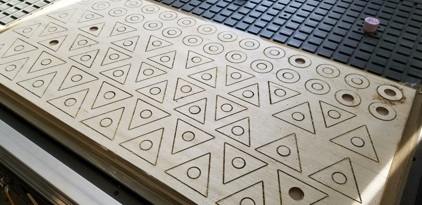 Cutting plywood with CNC router