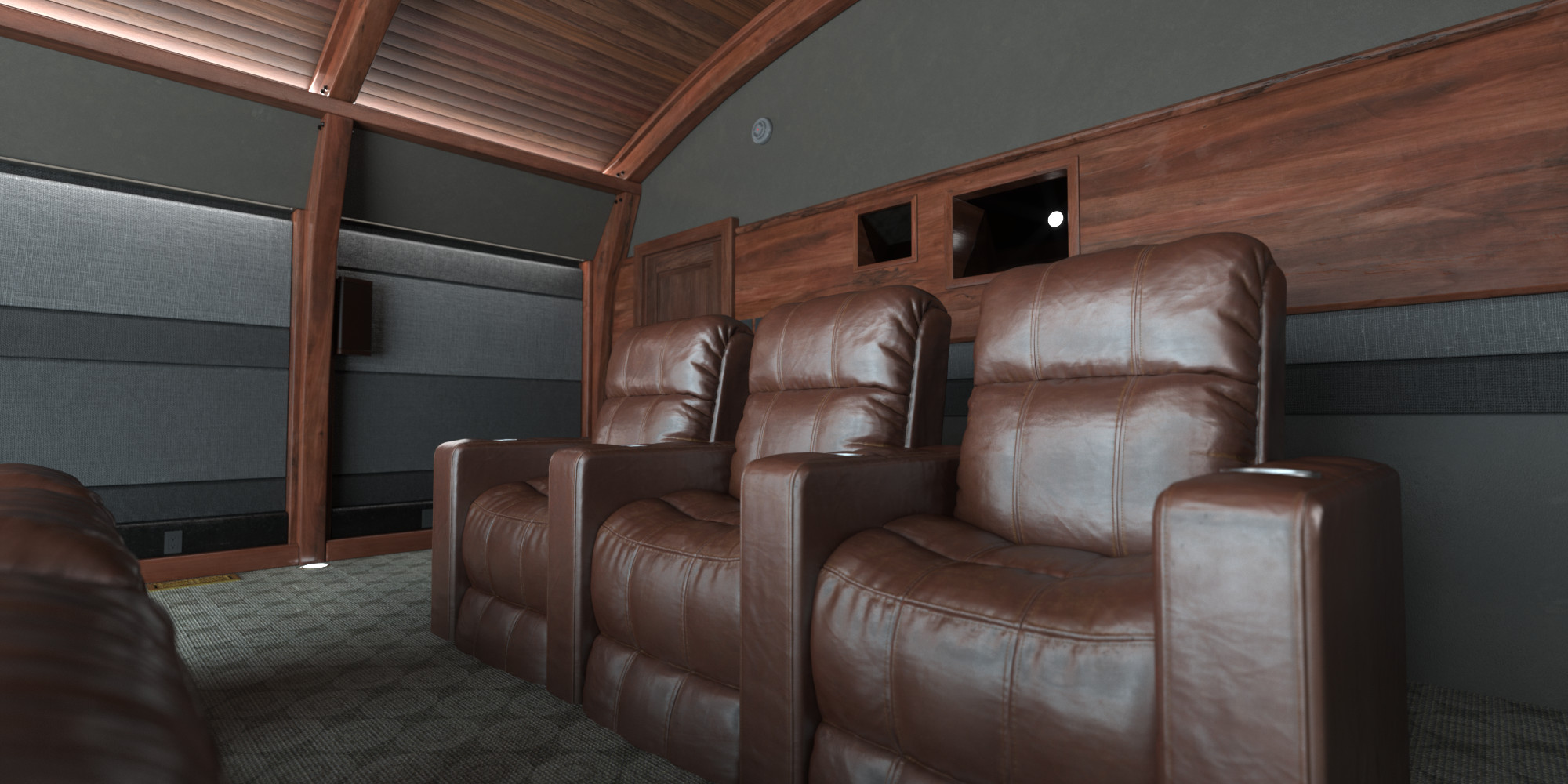HBO Home Theater | Back wall