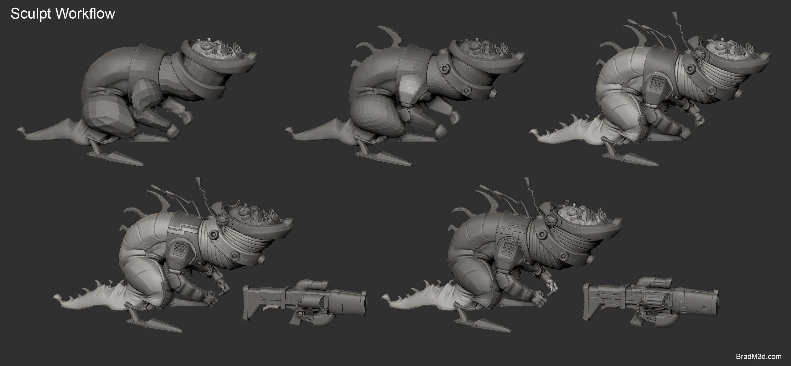 Zbrush: High Poly_Workflow
