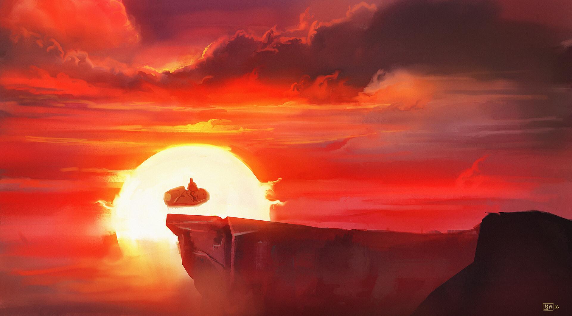 Max schiller 190203 dailyspitpaint sunset1