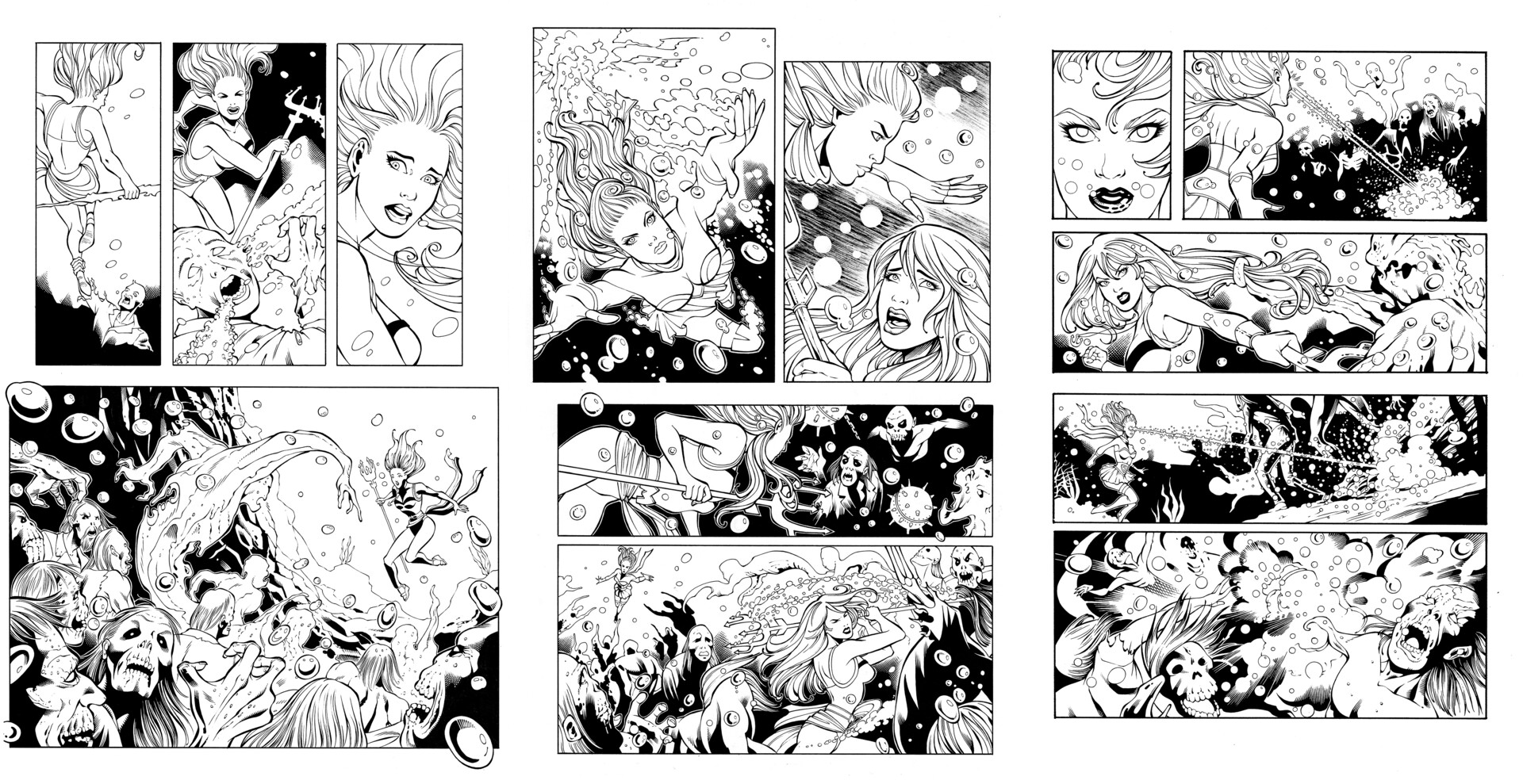 """Sequential Comic Book Pages """"Bombshells"""" - Original Ink by theinkpages"""
