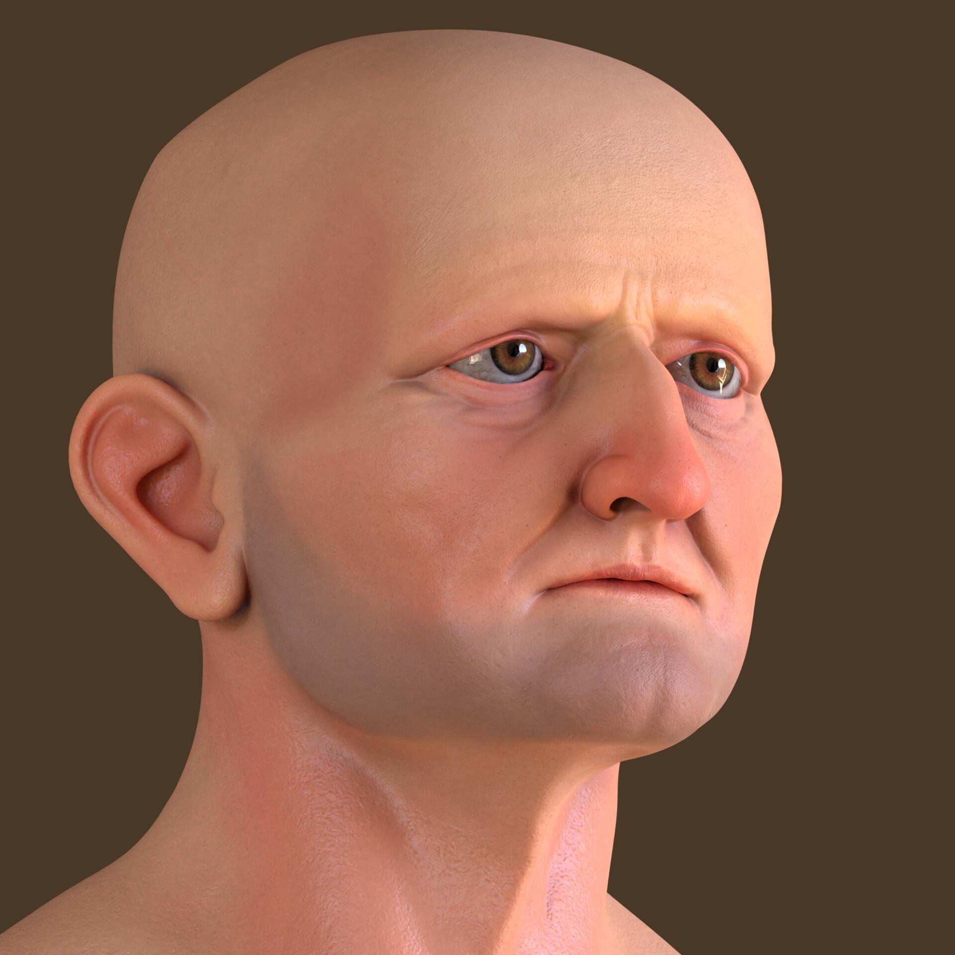 Artstation Old Man Sculpt Curtis Durane