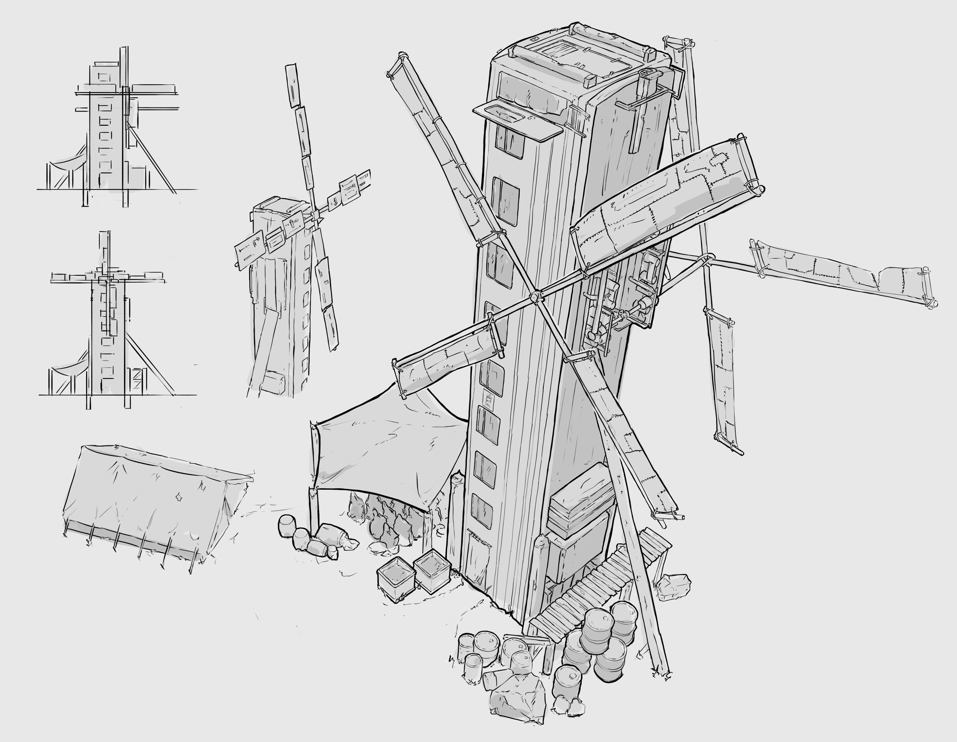 Sketches + Other variations of mill