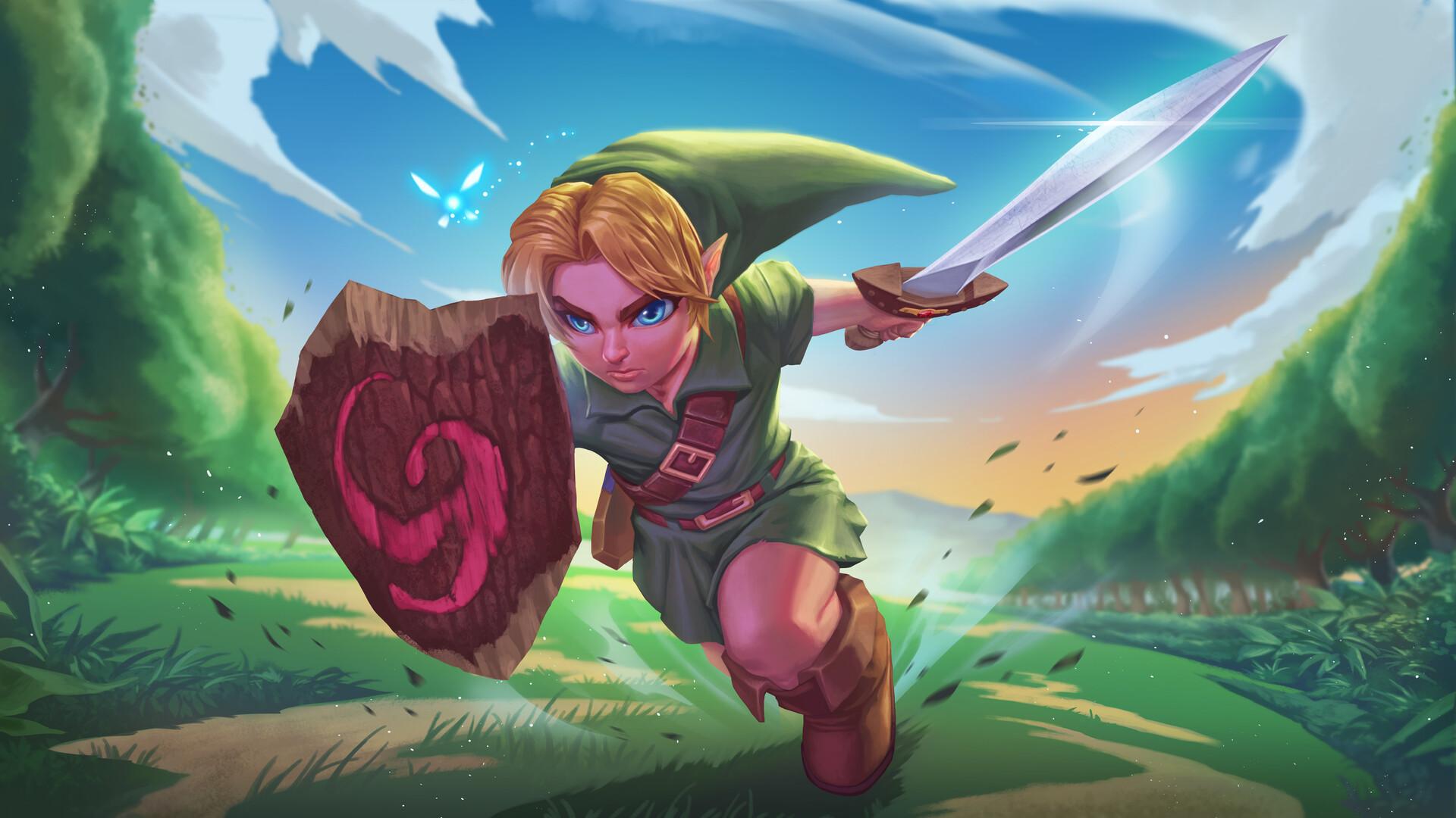 Brian Fajardo Young Link Fan Art Legend Of Zelda