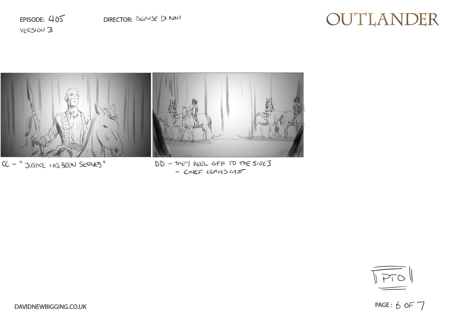David newbigging outlander 405 cabin burning sequence storyboards version 3 6
