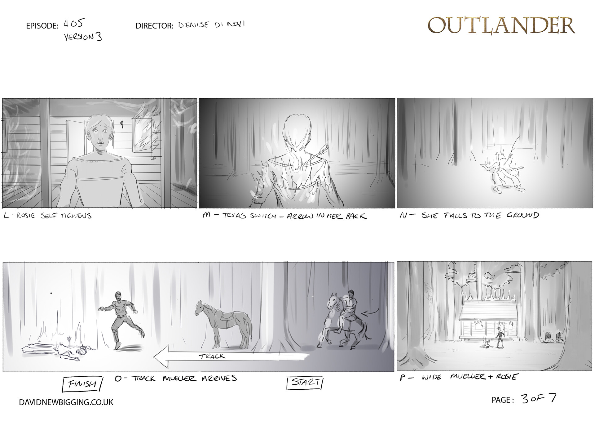 David newbigging outlander 405 cabin burning sequence storyboards version 3 3