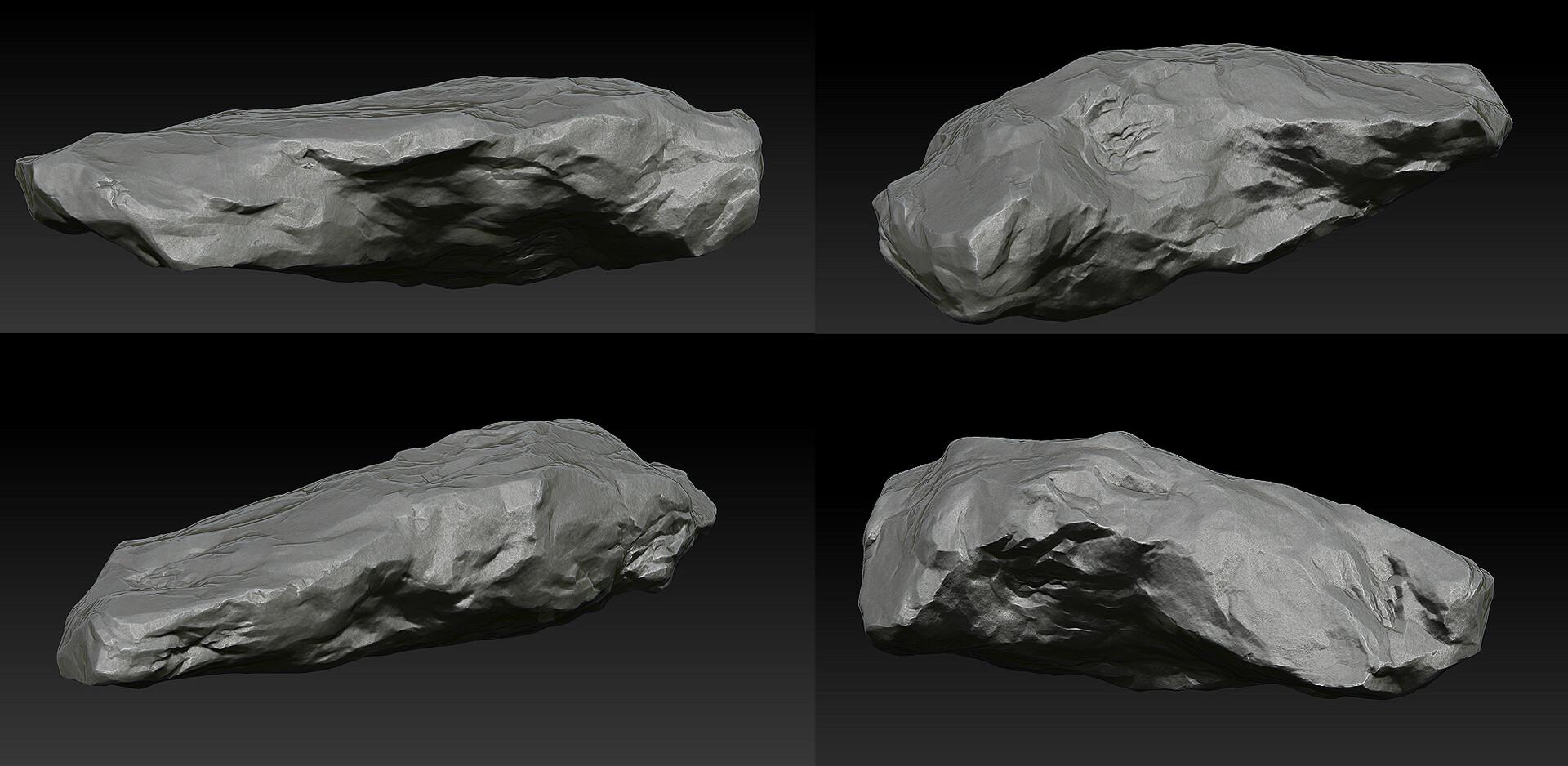 Zbrush rock sculpt practice