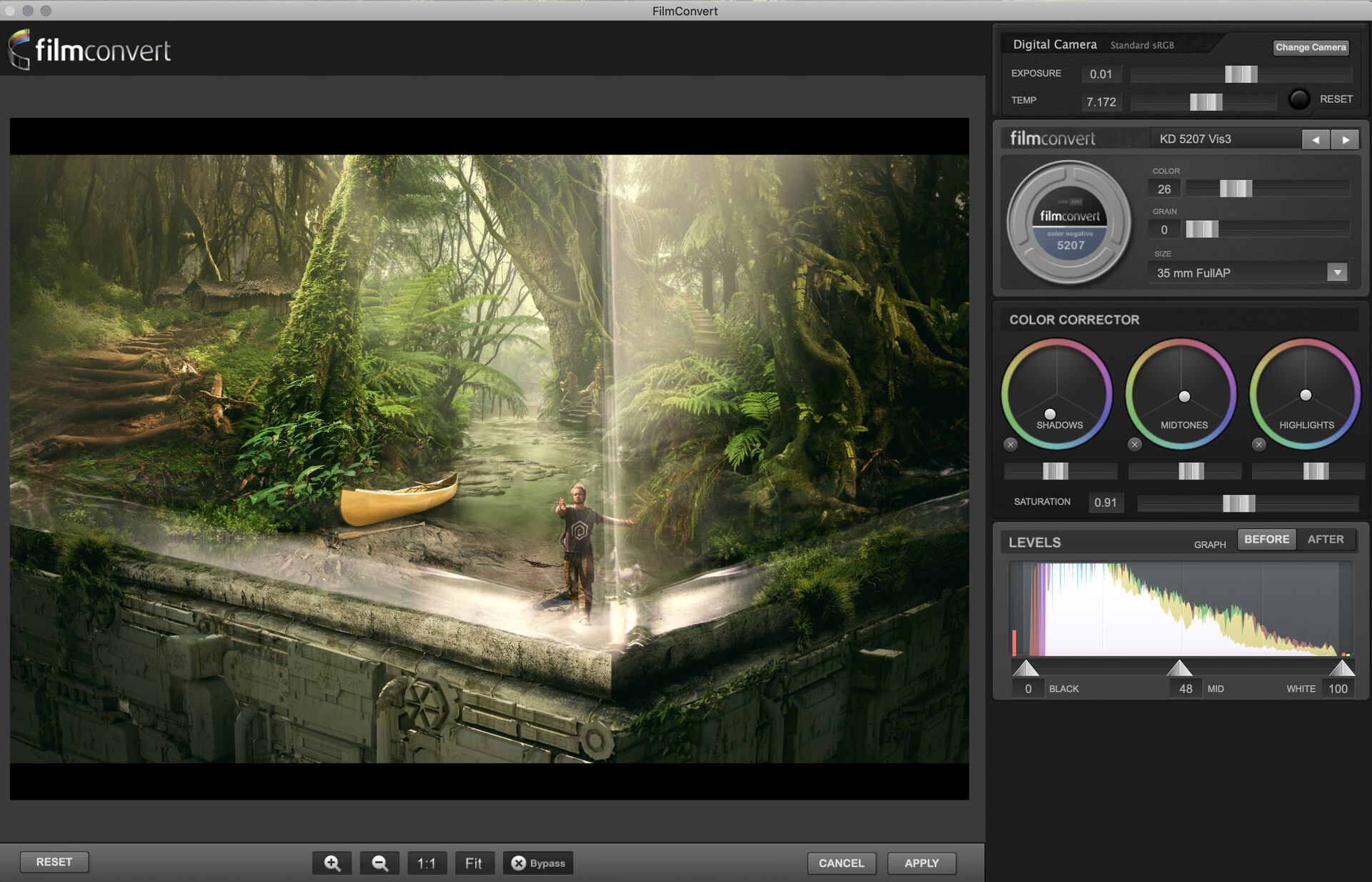 Edit ballai 05 colorgrading filmconvert