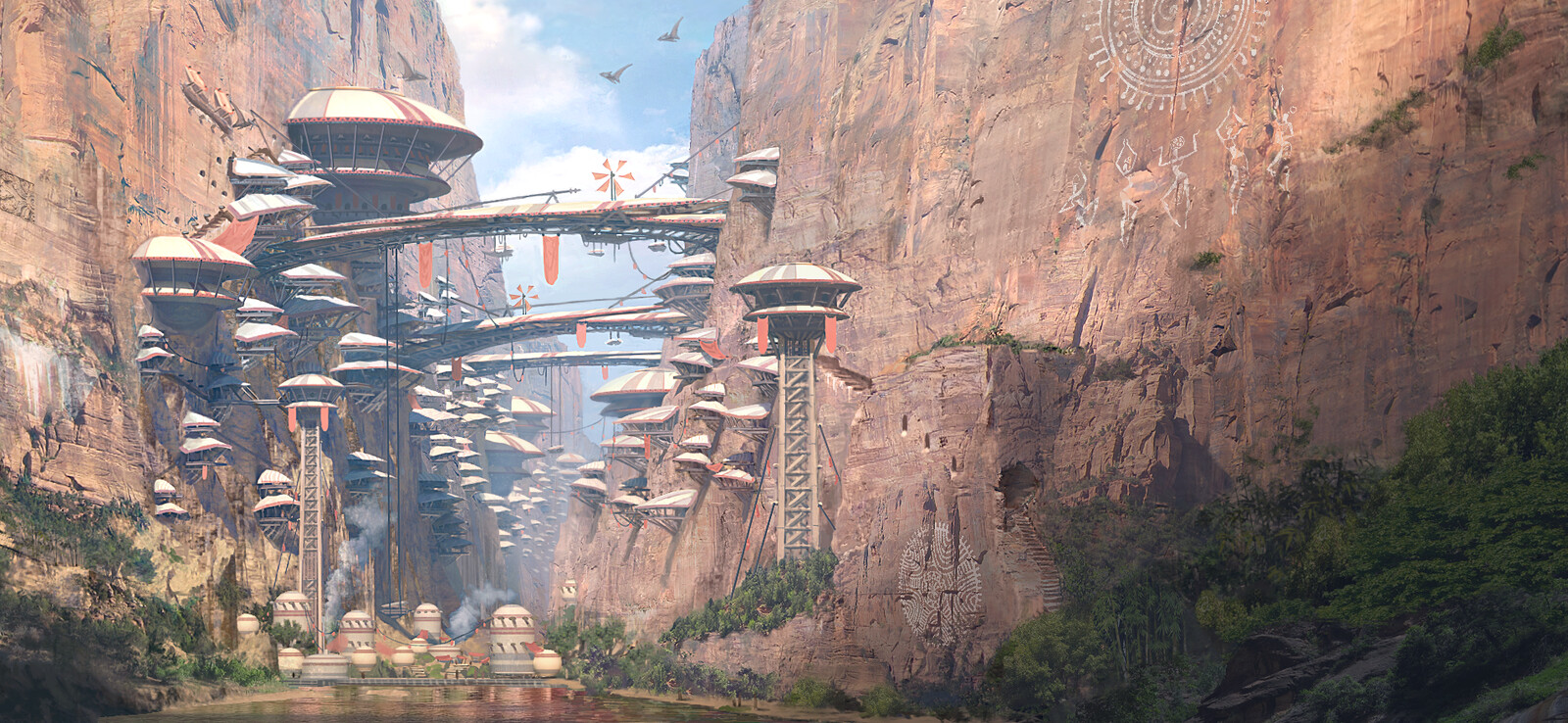 Canyon Civilization Vertical City Close Up