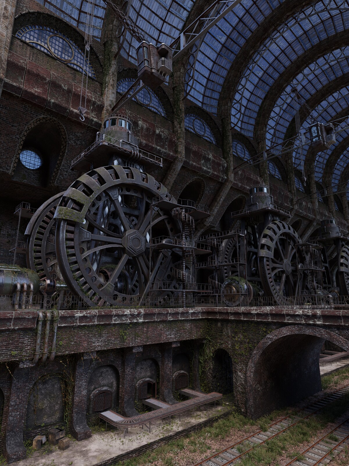 """The Old Factory- I remade  one of my favorite 3D artsists, Toivo Huhtaniska, and his """"Heart of the Industry"""""""