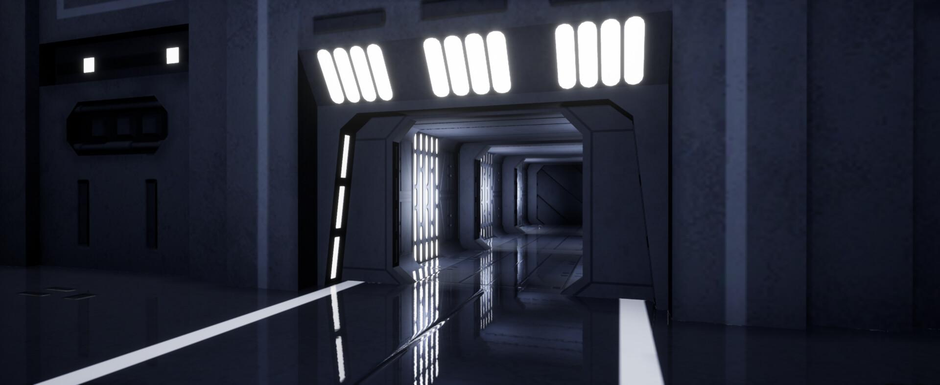 ArtStation - Star Destroyer Hangar (Fan Art), Aaron Cole