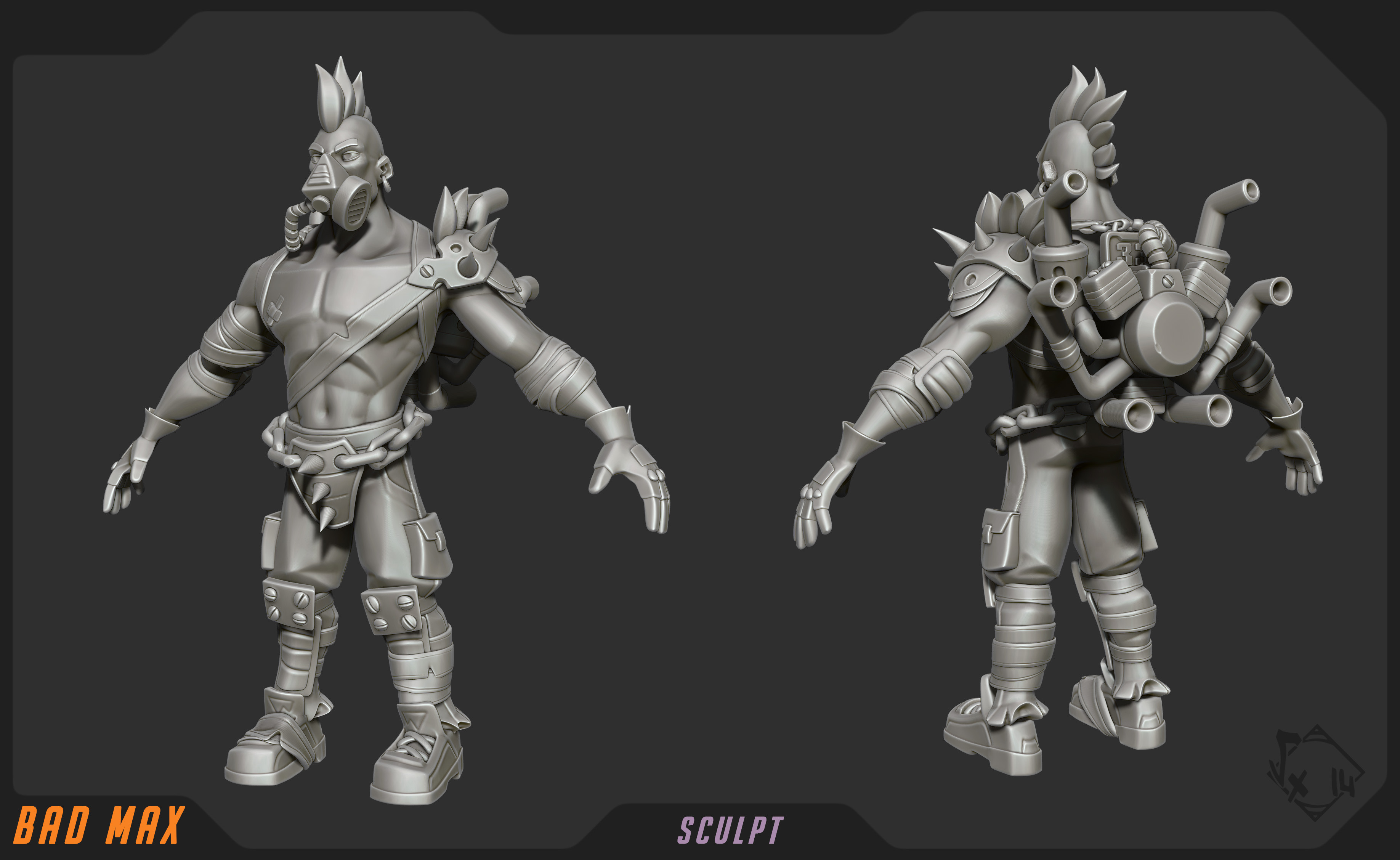 Sculpt, done on ZBrush