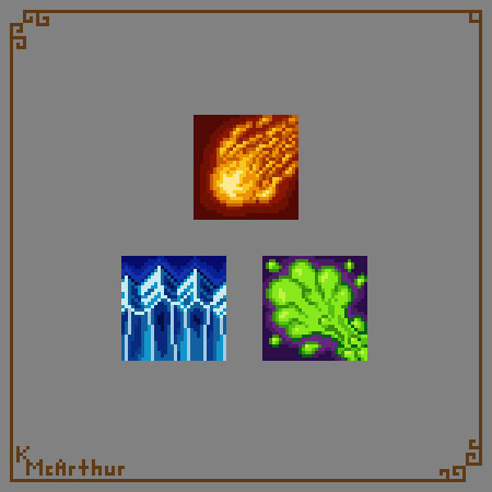 Finished ability icons