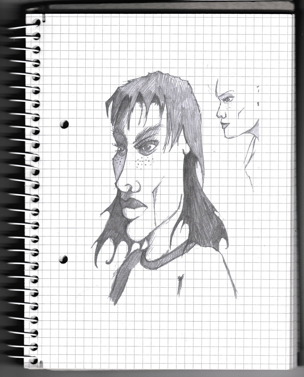 character, sketch, pencil, face,