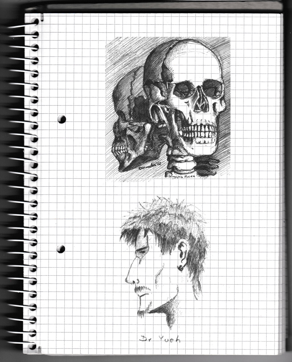 character, sketch, pencil, monster, creature, skull, face,
