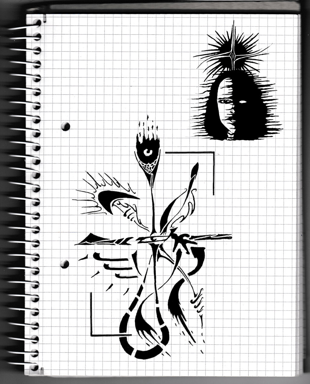 character, sketch, pencil, psychodelic,