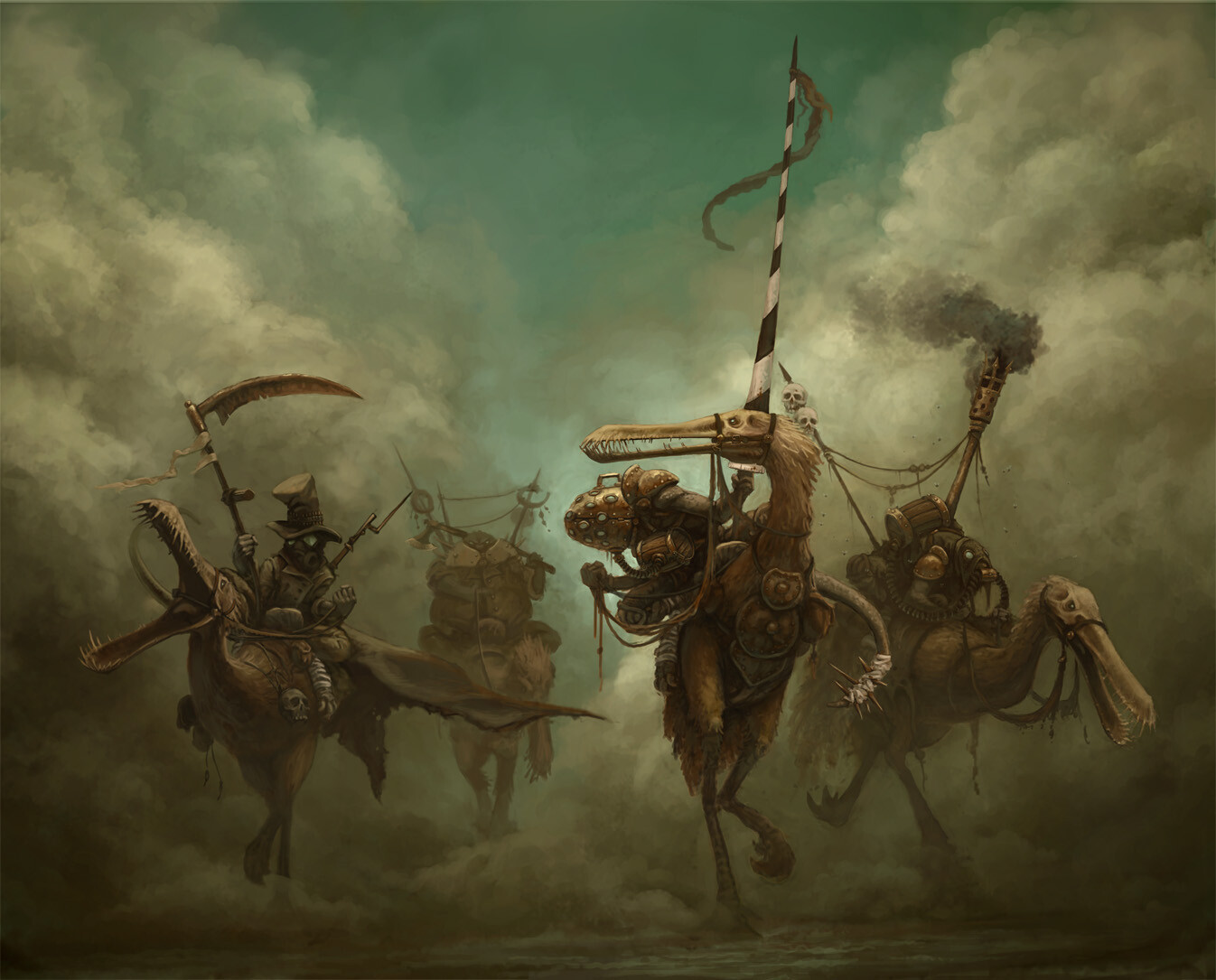 ArtStation - The Four Horsemen, Gordon Oscar