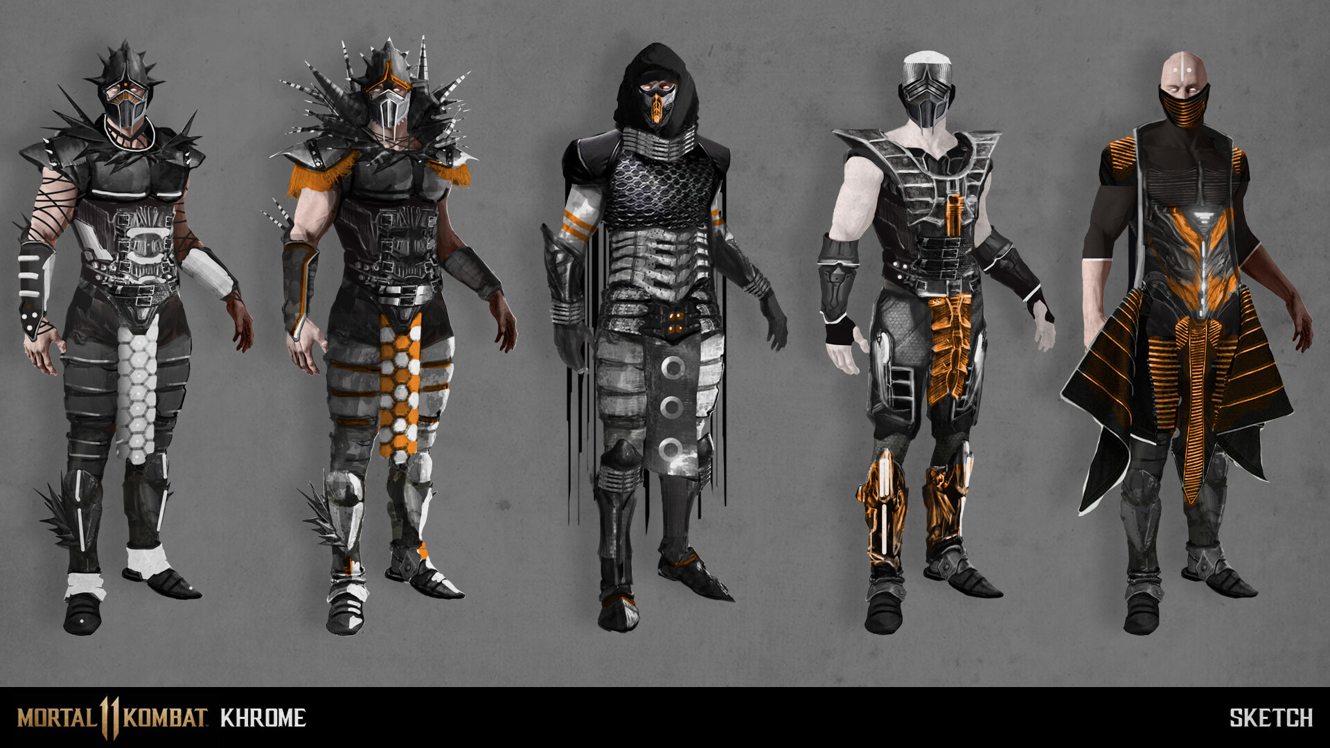 Mortal Kombat 11 character re-design: KHROME PROPOSAL | Test Your Might