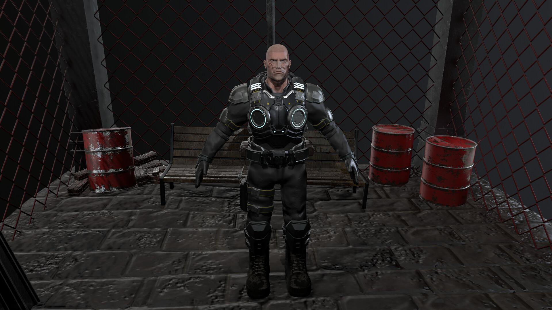 Artstation Marcus Fenix Gears Of War 4 Maykor Almonte