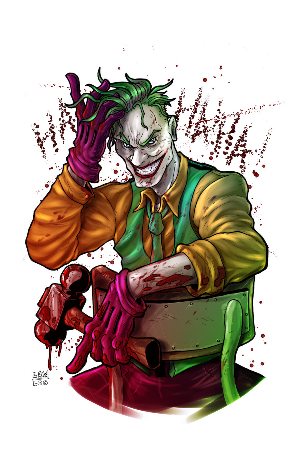 Joker, colored by me