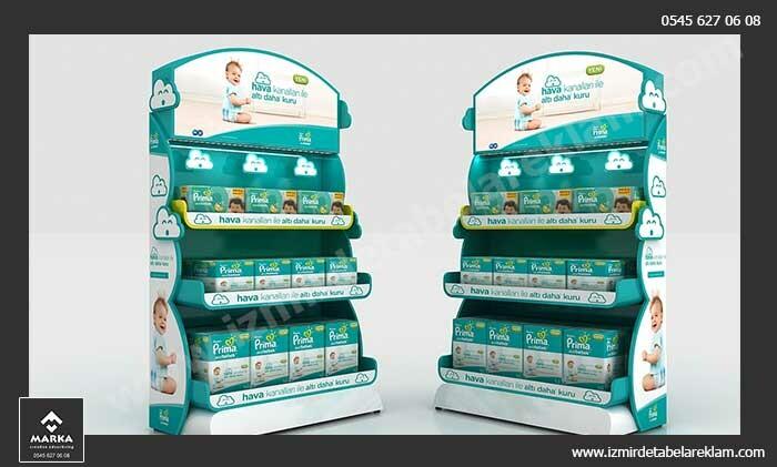 Izmir tabela reklam hizmetleri stand imalati izmir teshir urun standi