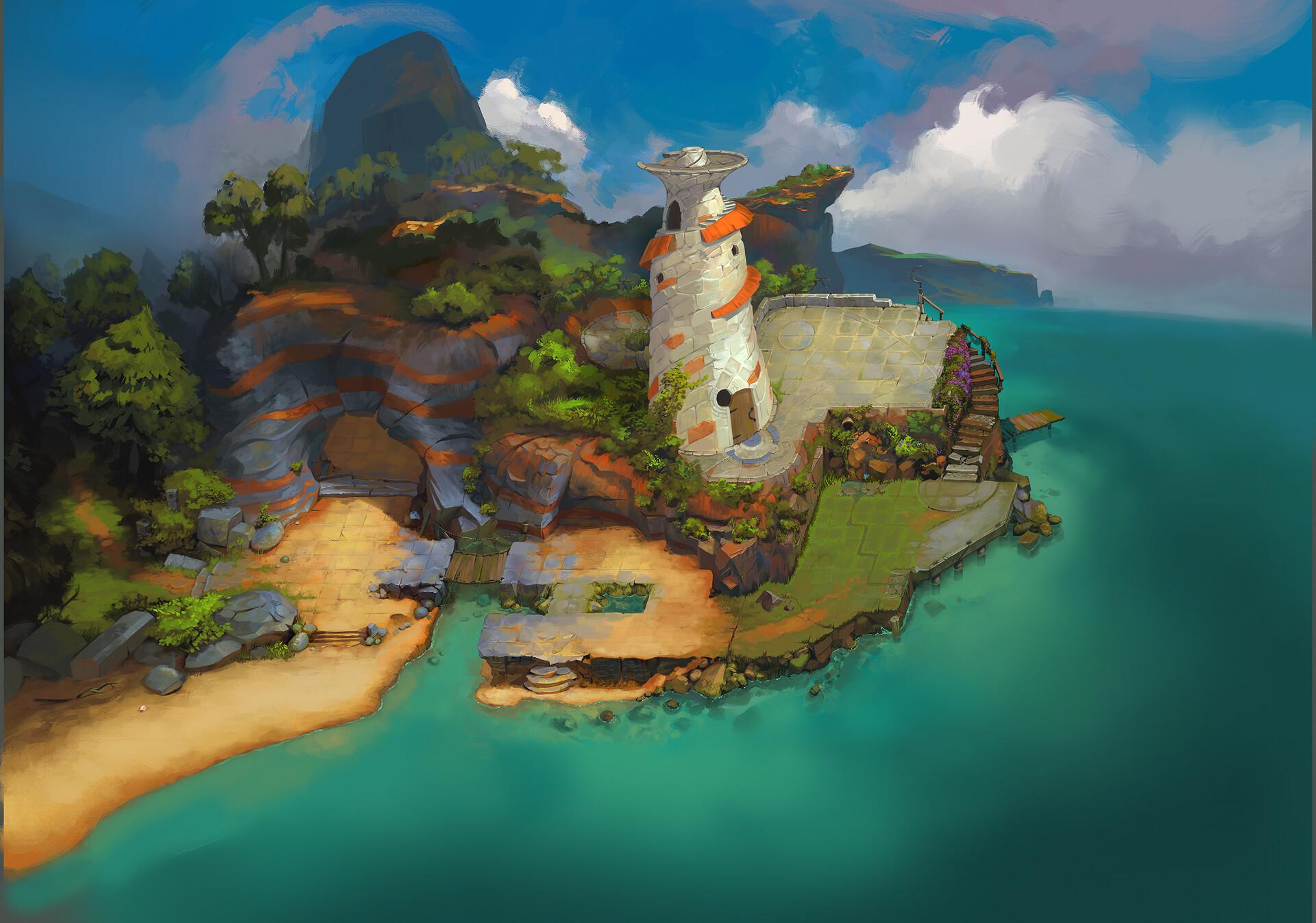 ArtStation - GridLight — lighthouse finale, Courtland Winslow 🐳