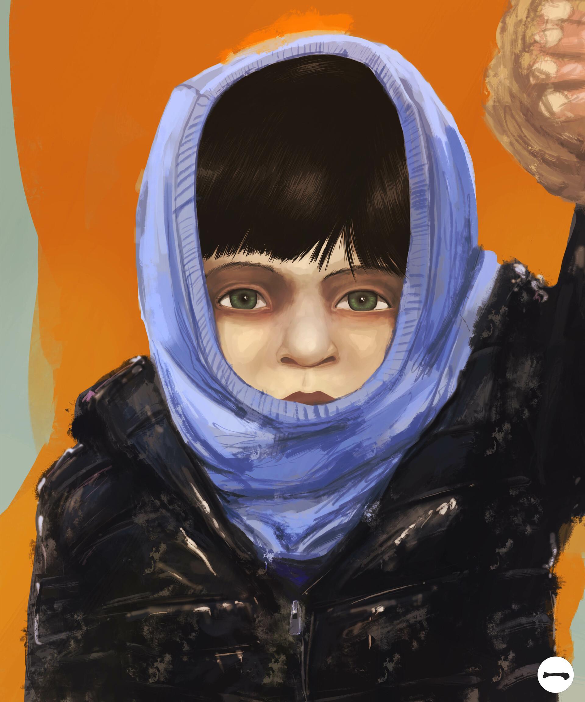 Huesos negros retrato nino