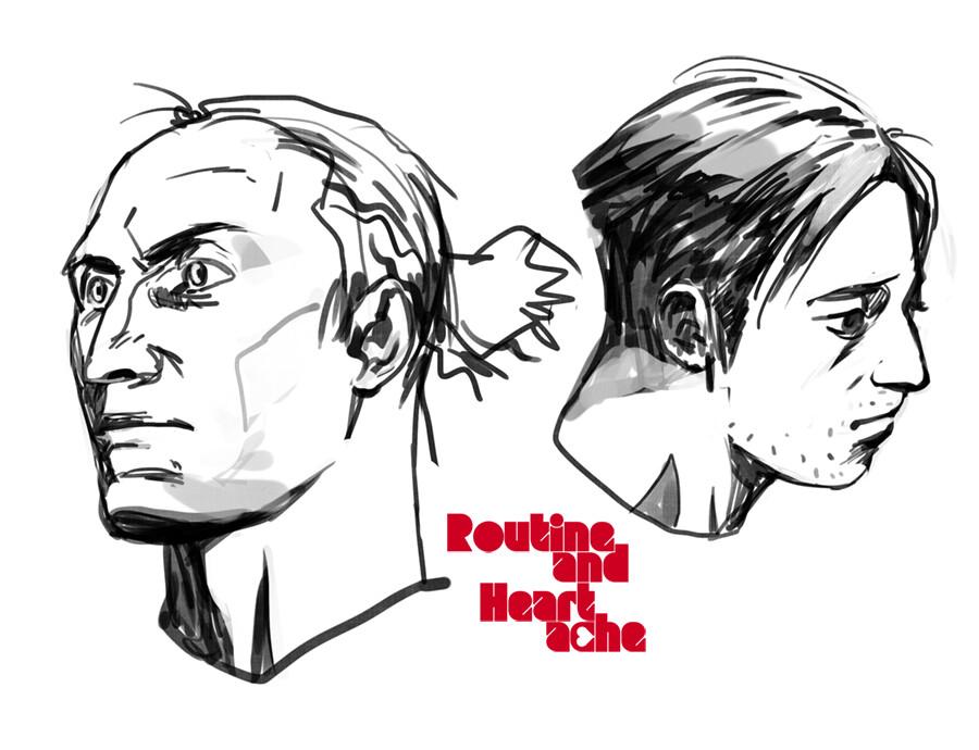 Korina hunjak routine and heartache characters portraits
