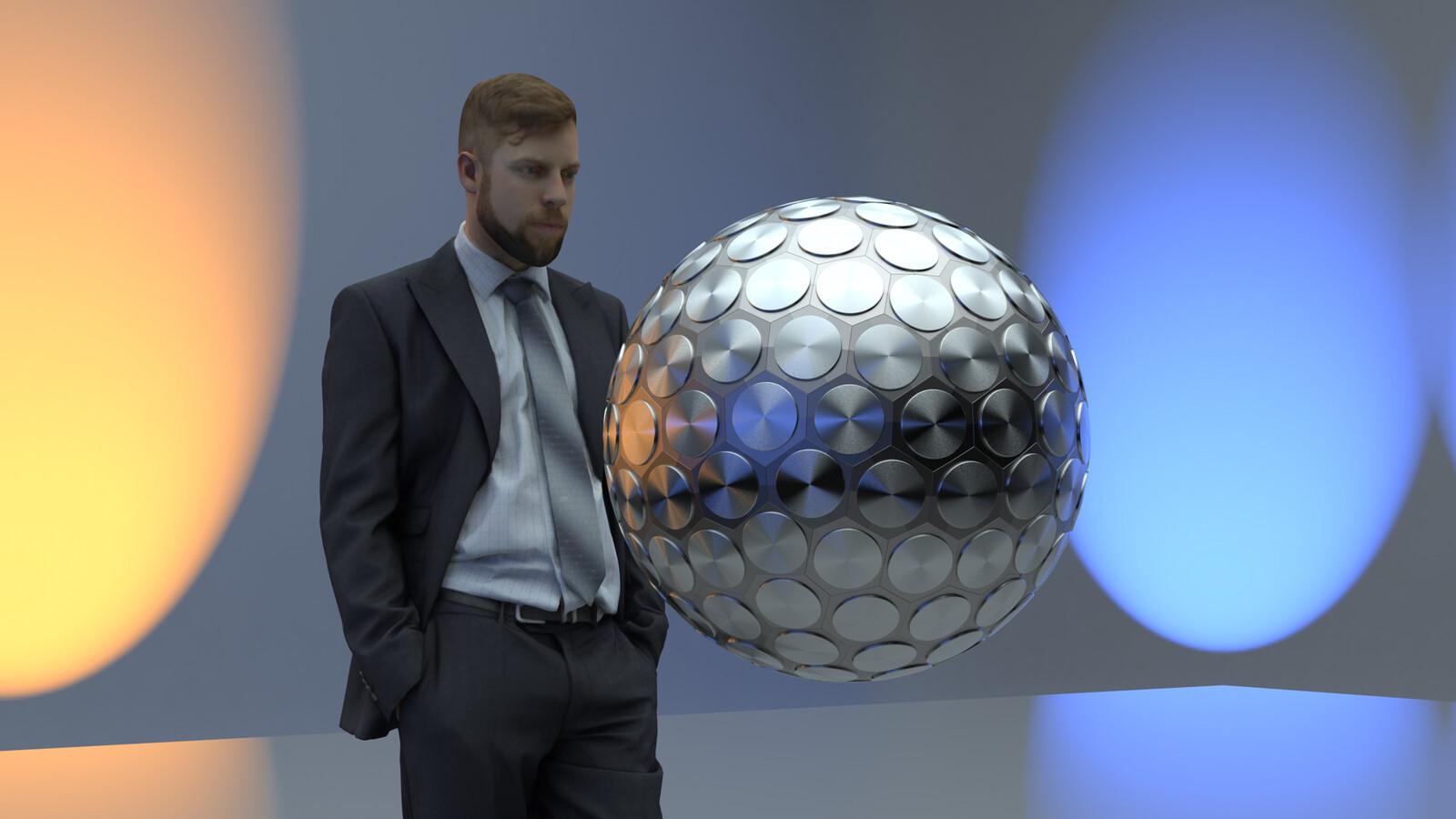 SU 2016 + Thea Render Bomb-Geodesic Sphere