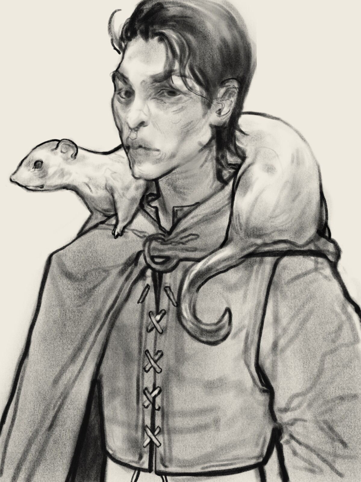 Ferret Man Sketch