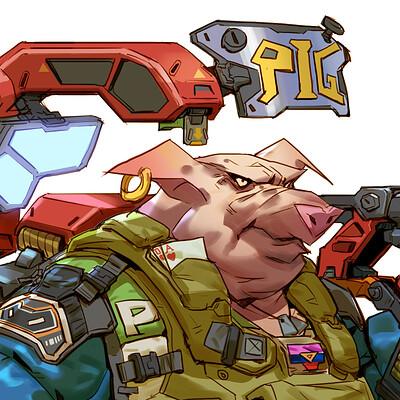 Rock d pig rendering