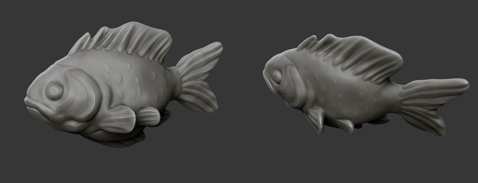 ArtStation - Stylized Fish, 3dExtrude Tutorials