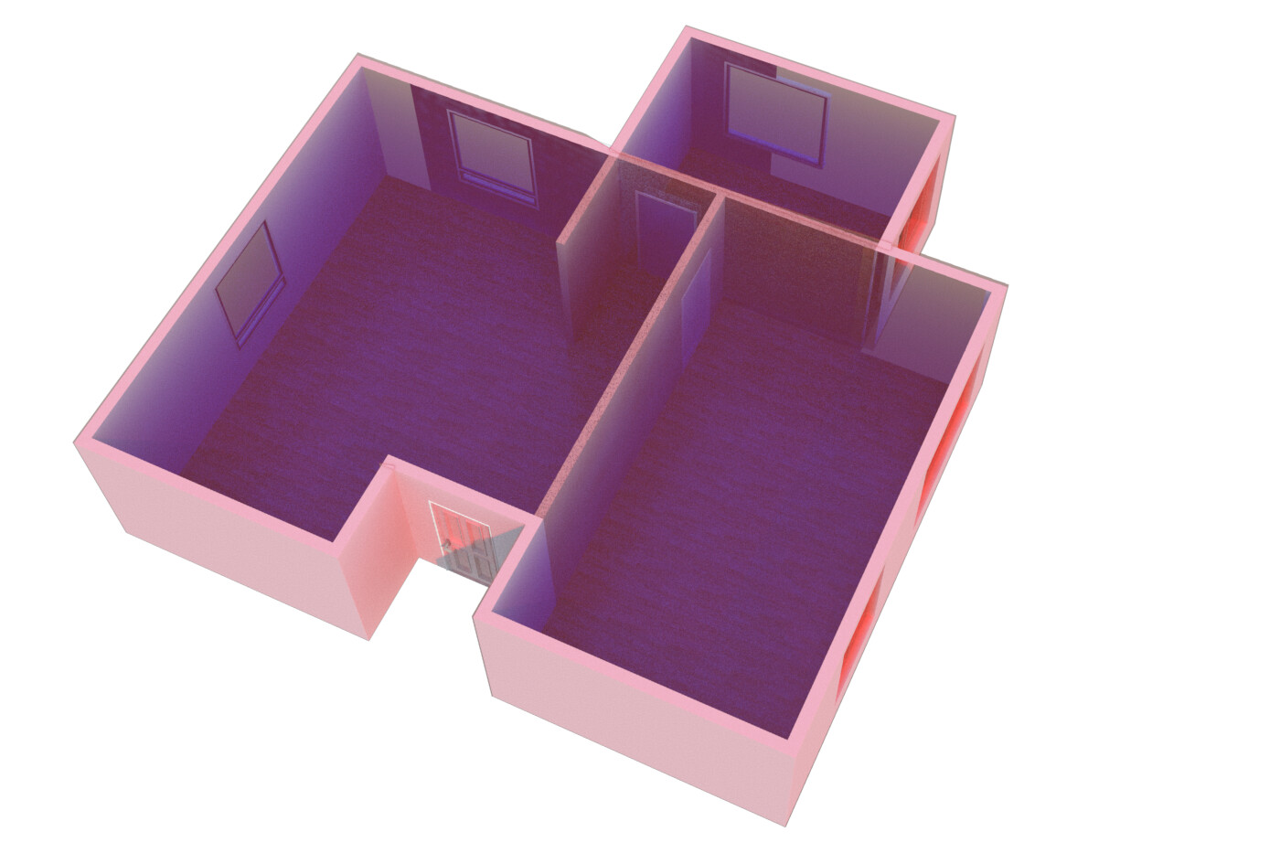 Old work - as part of an AIA presentation on BIM, I produced this to illustrate moduling techniques.