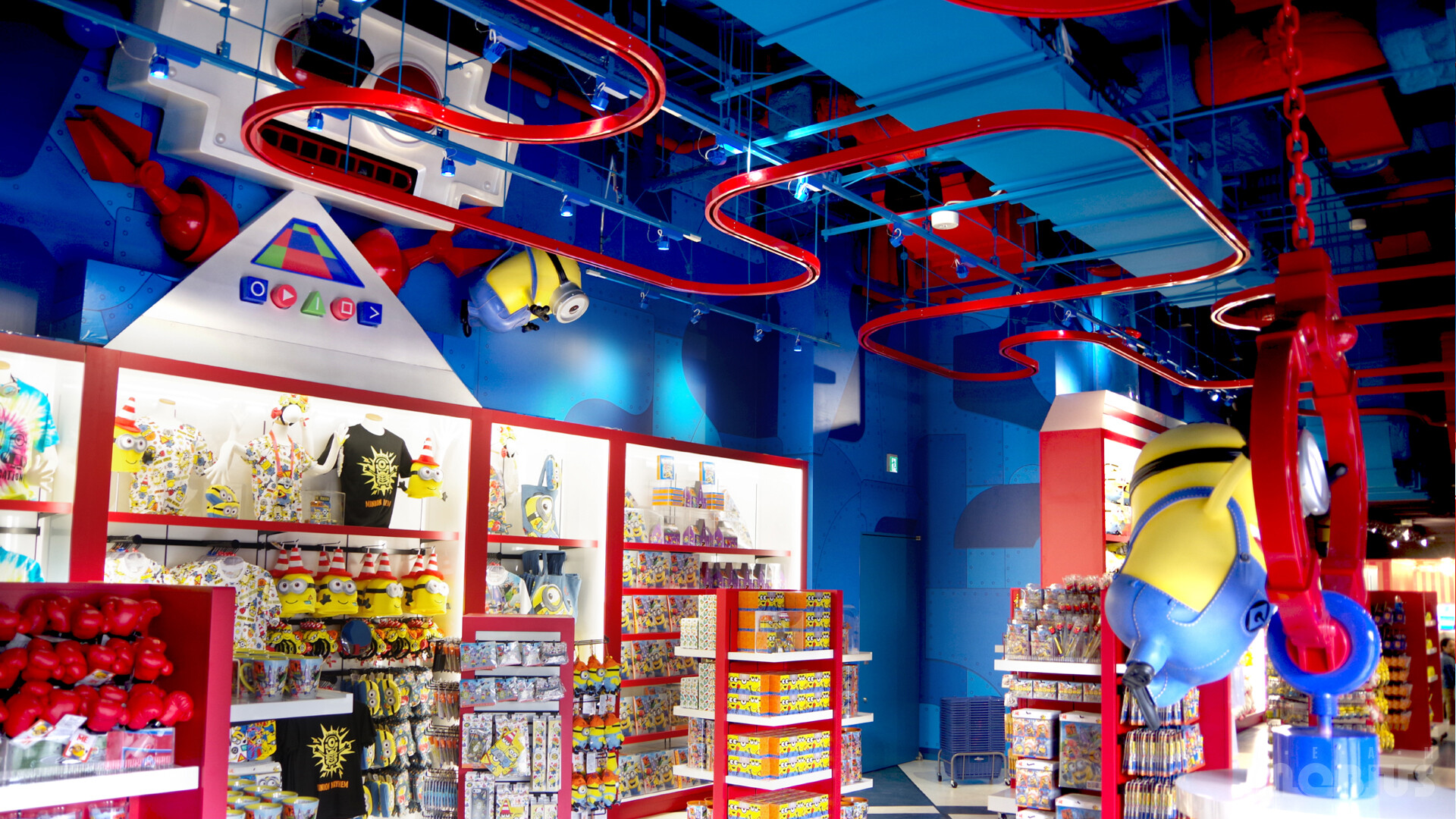 Production image for the interior of the Toy Store retail store area