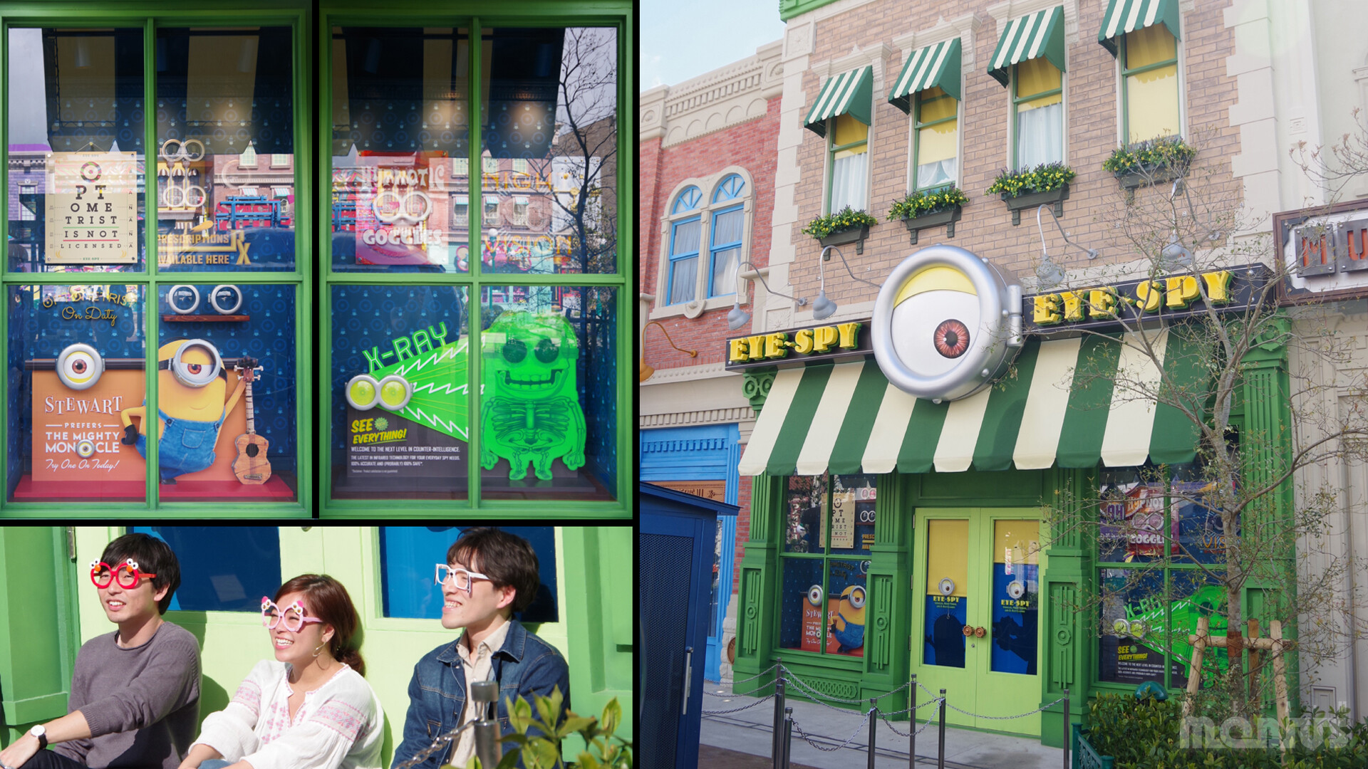 EYE SPY - one of the many facades in Minion Park