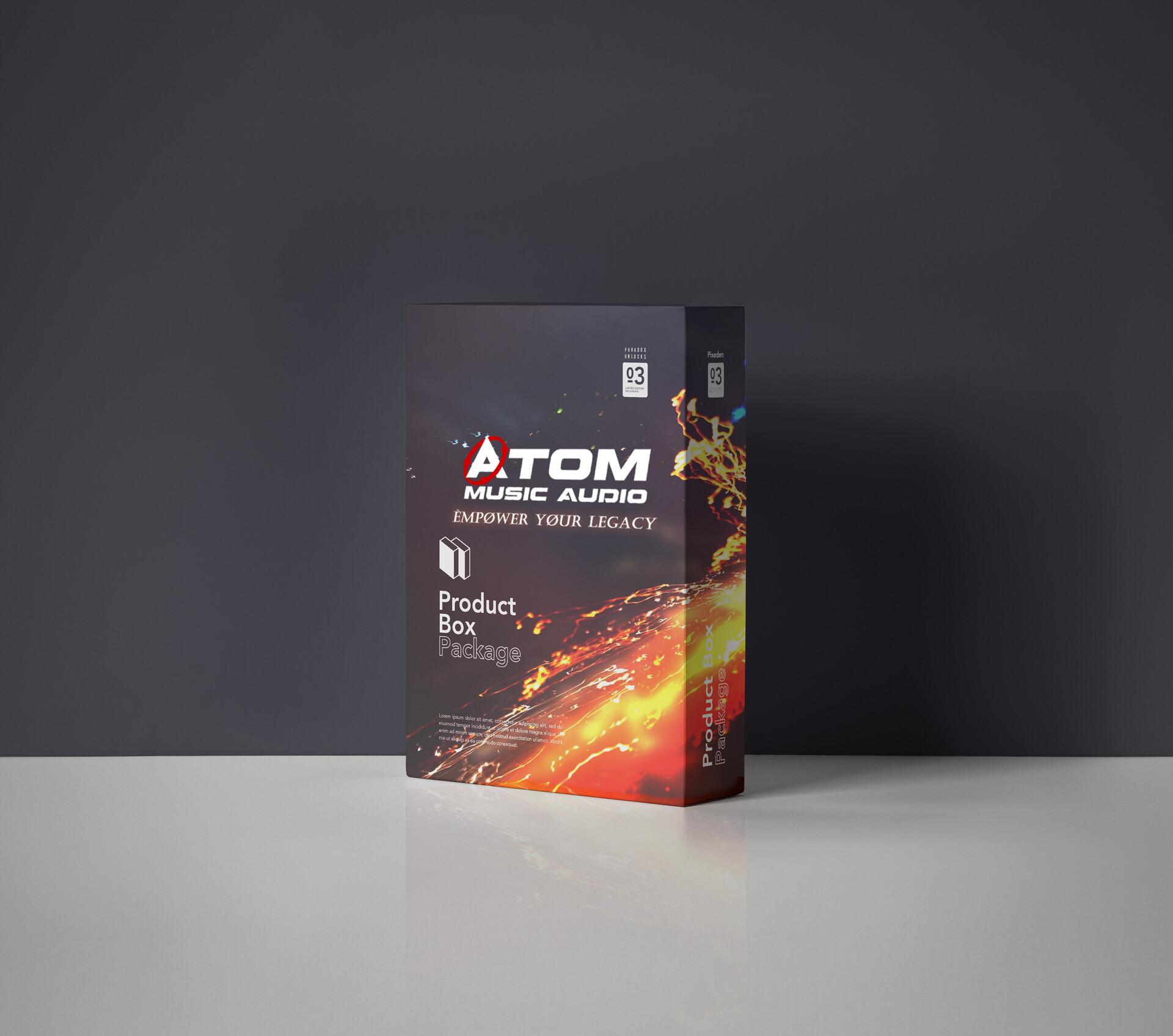 ArtStation - 🔴 Atom Music Audio LOGO DESIGN (Combination