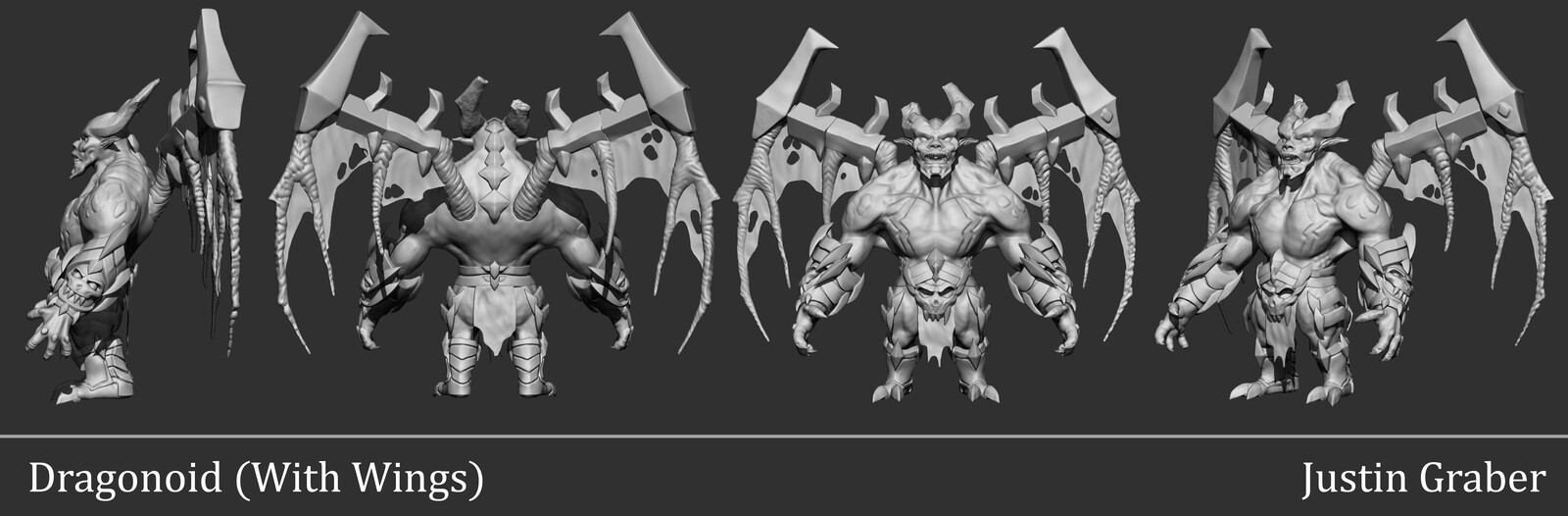 High-poly sculpt with wings