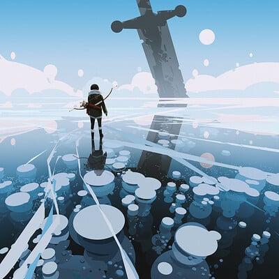 Yun ling ice lake bubble 1