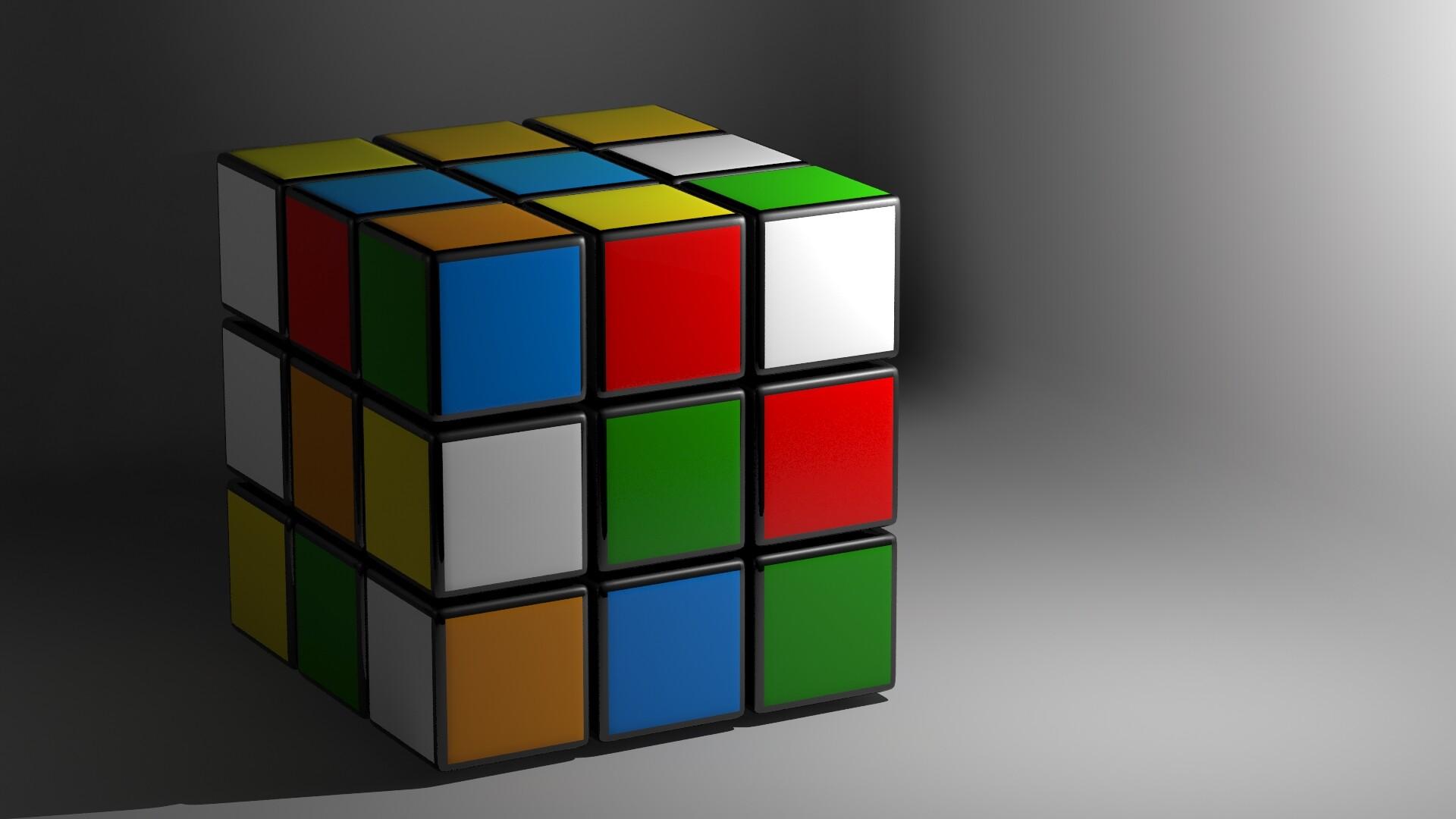 Artstation 3d Rubkis Cube Render Aaron Smith