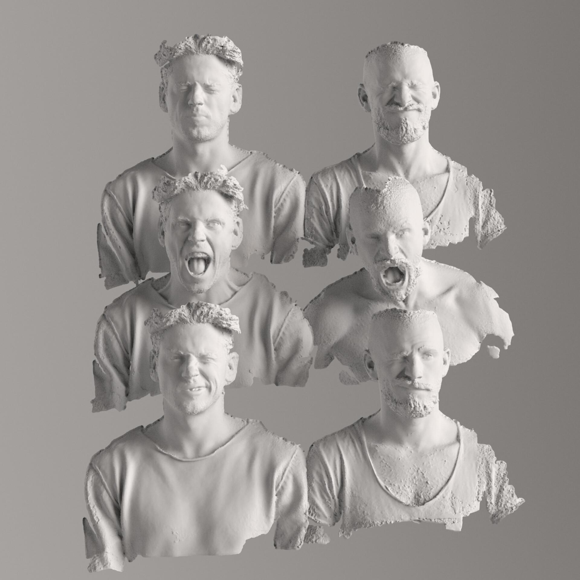uncleaned facescans